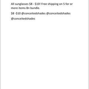 $8-$10 sunglasses